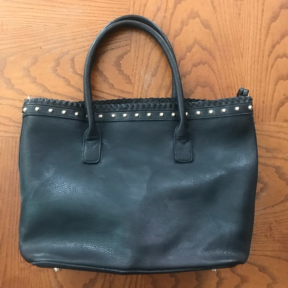 Handbags - Black vegan leather tote